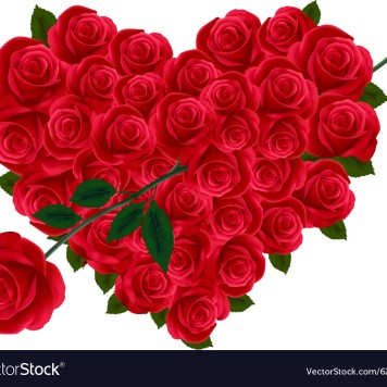 valentine-heart-of-roses-vector-625305